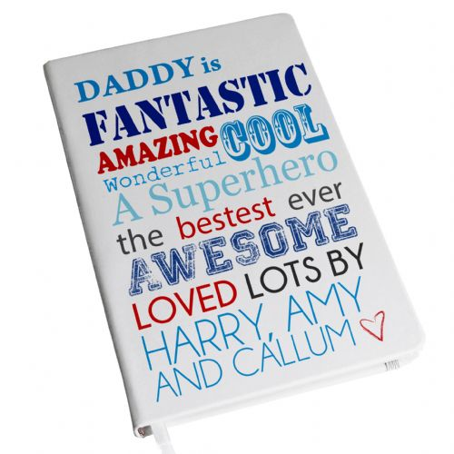 Personalised He is... Hardback A5 Notebook